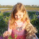 Ava in the bluebonnets