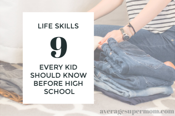 life skills every kid should know